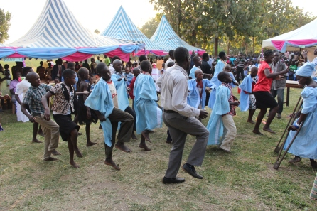 MAAYOC 2015 Adjumani Children for a creative dance